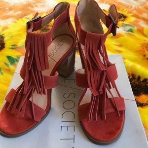 Sole Society fringe sandals